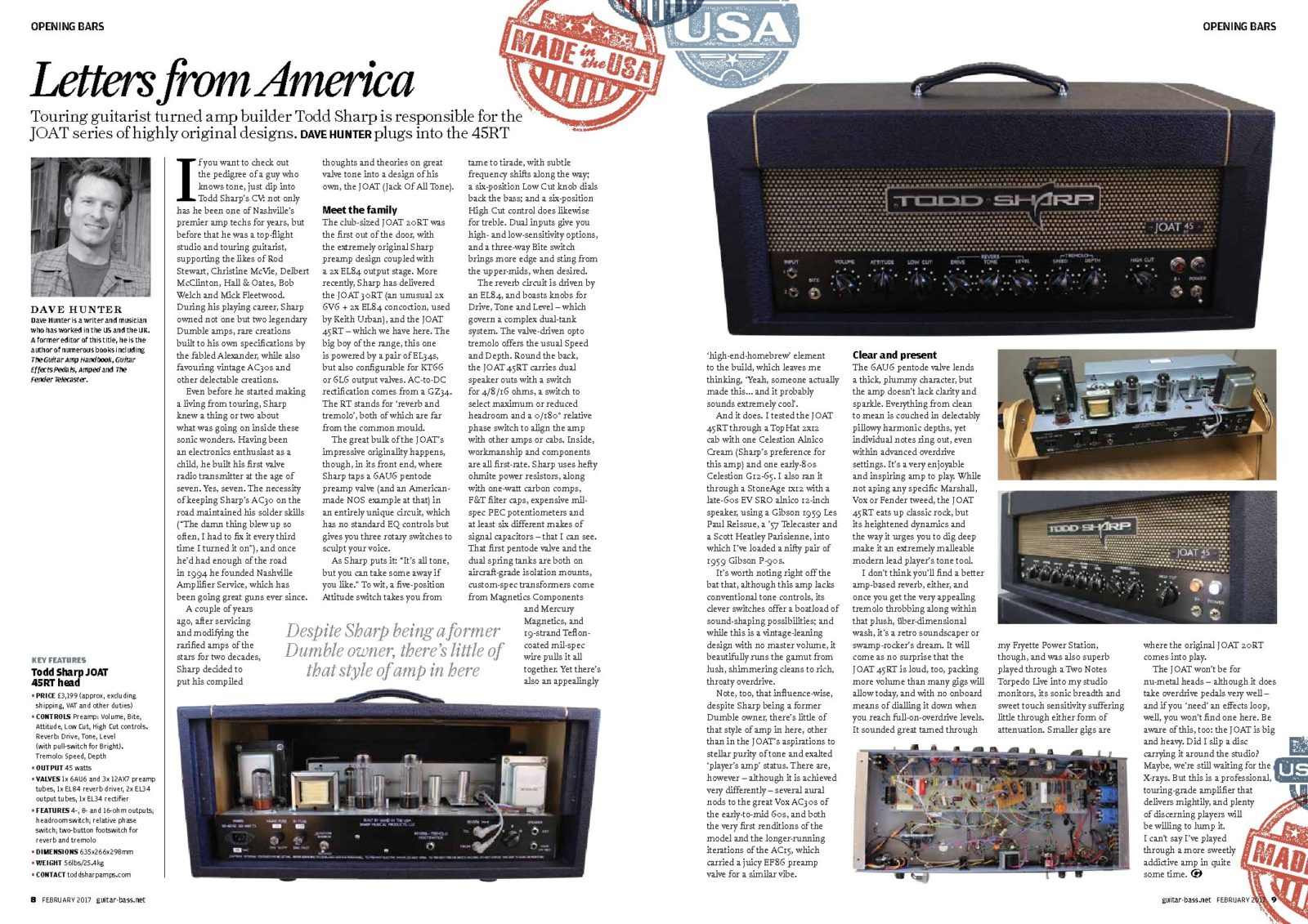 Letters From America – Dave Hunter's Review of the JOAT 45RT